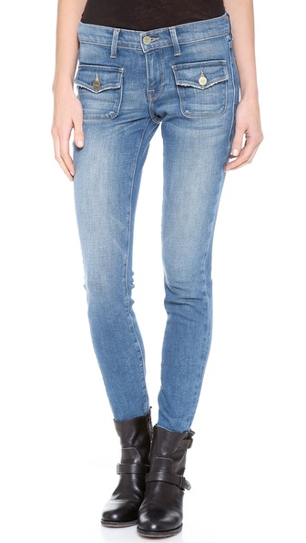FRAME Denim Le Skinny Crop Flat Pocket Jeans