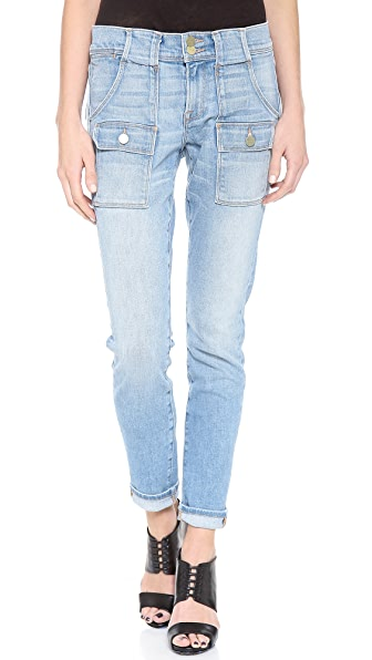 FRAME Le Garcon Patch Pocket Jeans