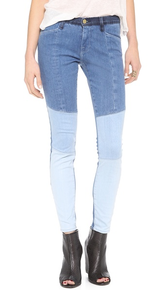 FRAME Le Skinny Colorblock Jeans