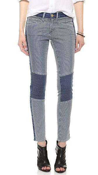 FRAME Le Skinny Railroad Jeans