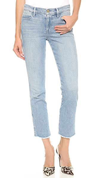 FRAME Le High Raw Edge Straight Jeans