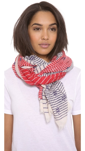Franco Ferrari Stripes & Triangles Scarf