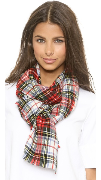 Franco Ferrari Extreme Plaid Scarf - Red/White