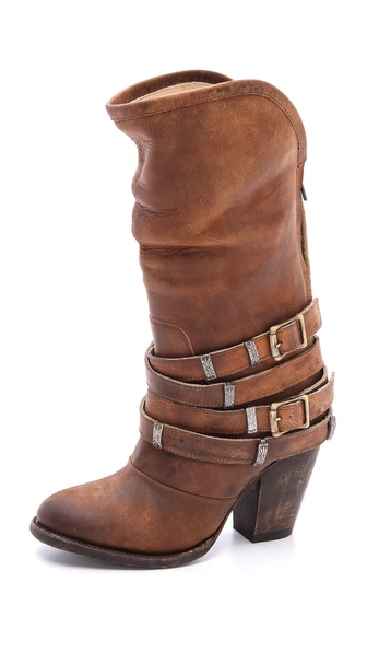 Freebird By Steven Teagan Wrap Strap Boots - Tan at Shopbop / East Dane