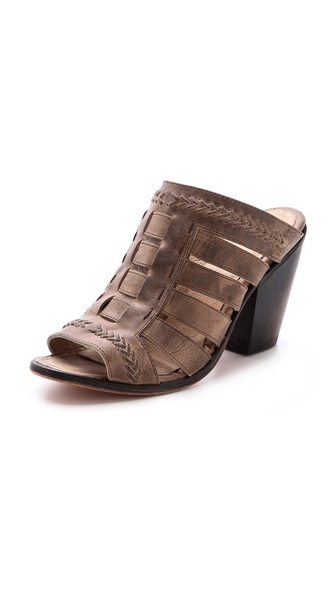 Freebird By Steven Vulture Open Toe Mules - Stone at Shopbop / East Dane