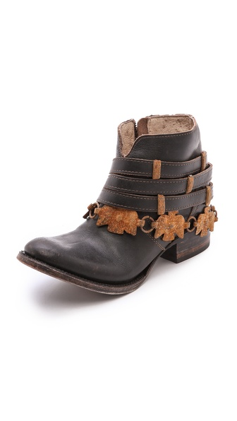 FREEBIRD by Steven Watts Chain Strap Booties