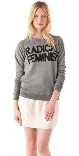 FREECITY Radical Feminist Raglan Sweater