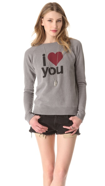 FREECITY I Love You Raglan Sweater