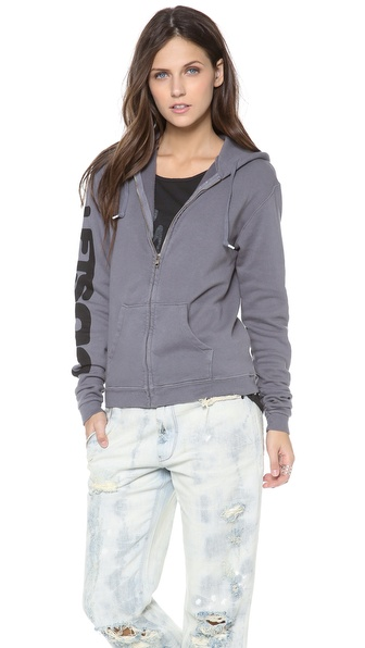 FREECITY Artists Wanted Sherpa Zip Hoodie