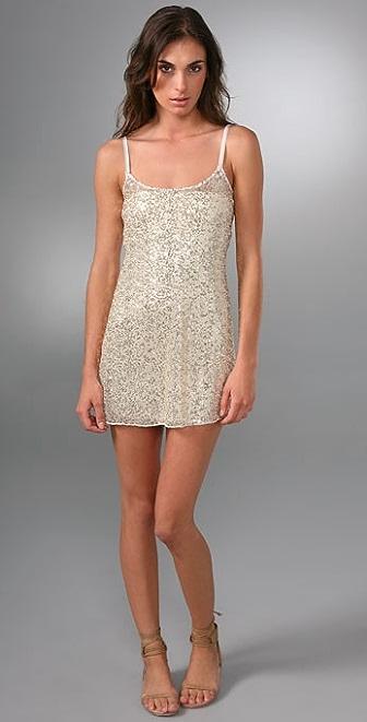 Free People Sequin Mesh Slip Dress