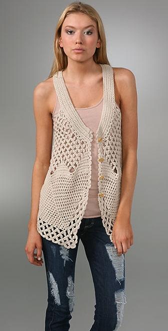 Free People Oversized Crochet Vest