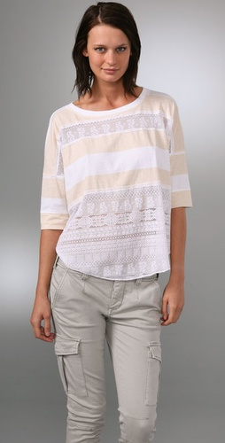 Free People We The Free Lacey Stripes Top