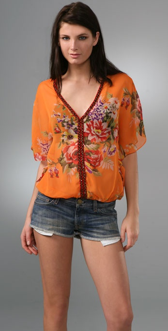 Free People Sheer Genius Floral Top