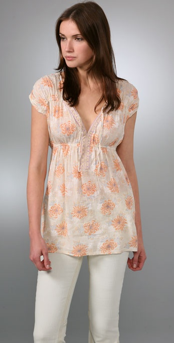 Free People Floral Summer Tunic