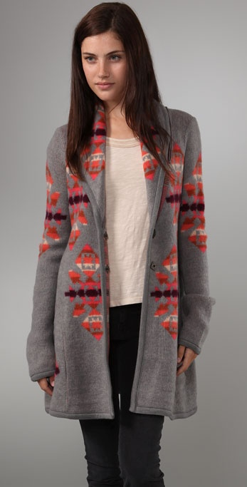 Free People Print Cardigan