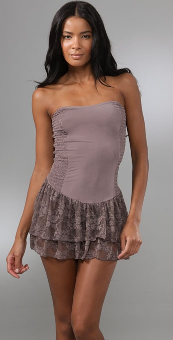 Free People Party Girl Ruffle Slip
