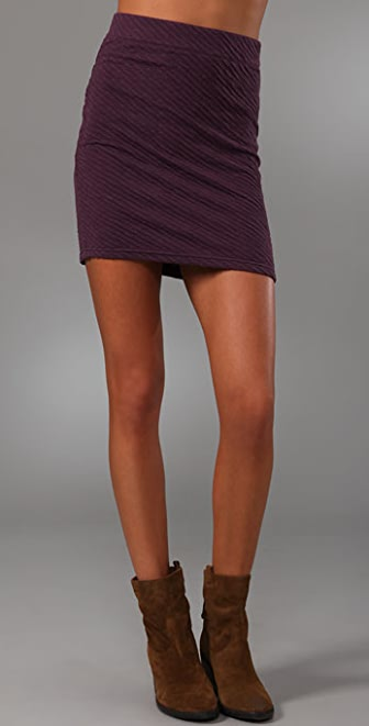 Free People Ripple Knit Miniskirt