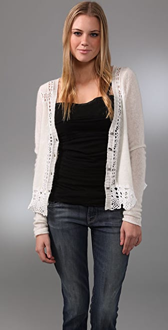 Free People Cherished Crochet Cardigan