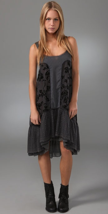 Free People Tie Back Rose Dress