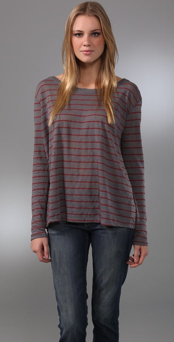 Free People We The Free Stripe Vacancy Tee
