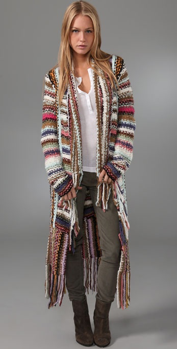 Free People Technicolor Dreamcoat Cardigan