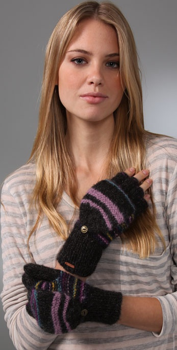 Free People Magic Stripe Hoodie Gloves