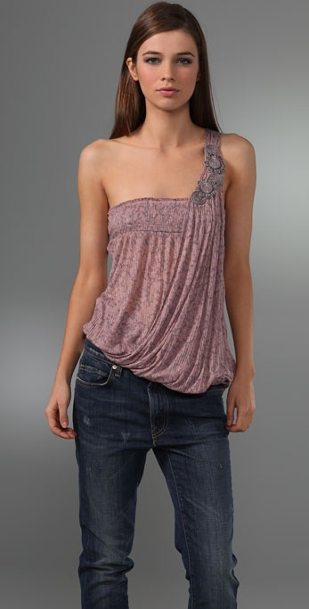 Free People Sea Breeze One Shoulder Top