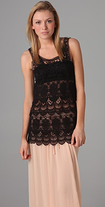 Free People Engineered Crochet Tunic