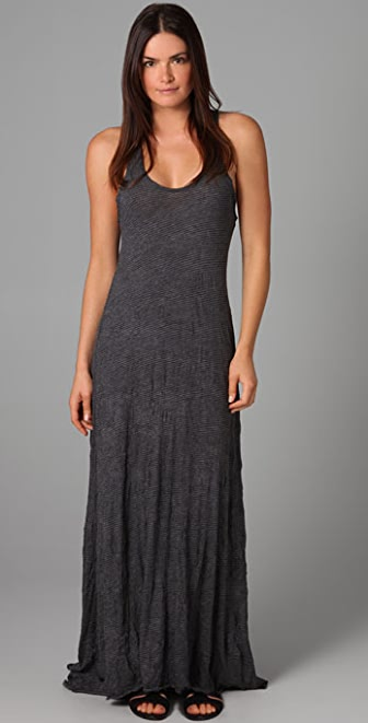 Free People Long Crinkle Dress
