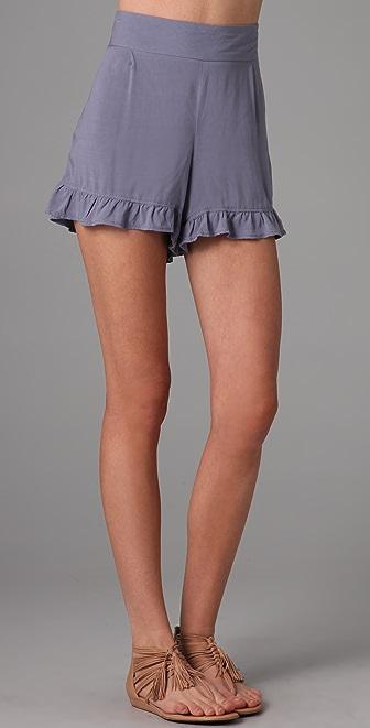 Free People Big Bow Ruffle Shorts