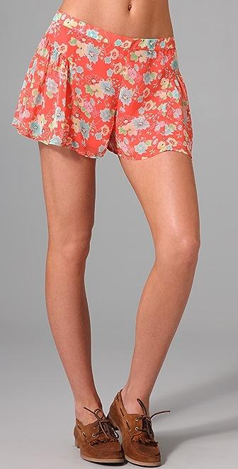 Free People Ruched Yoke Shorts