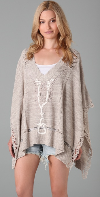 Free People Precious Pointelle Poncho