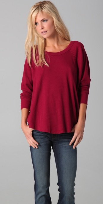 Free People Love Bug Thermal Top