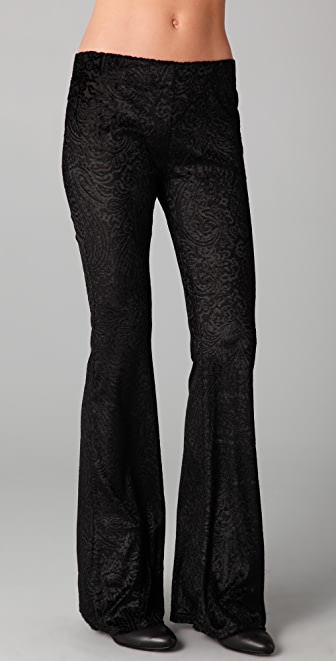 Free People Burnout Velvet Flare Pants
