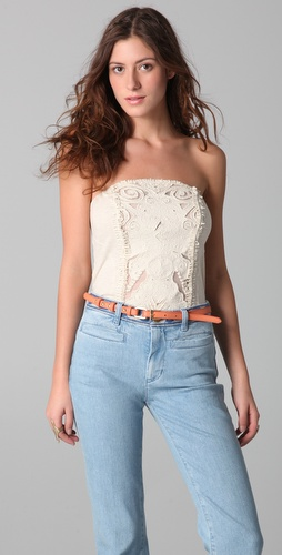 Free People Music City Rough Cut Corset Top