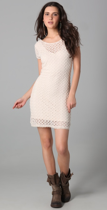 Free People Gypsy Lace Cap Sleeve Dress