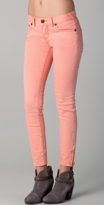Free People Milenium Cropped Colored Skinny Jeans