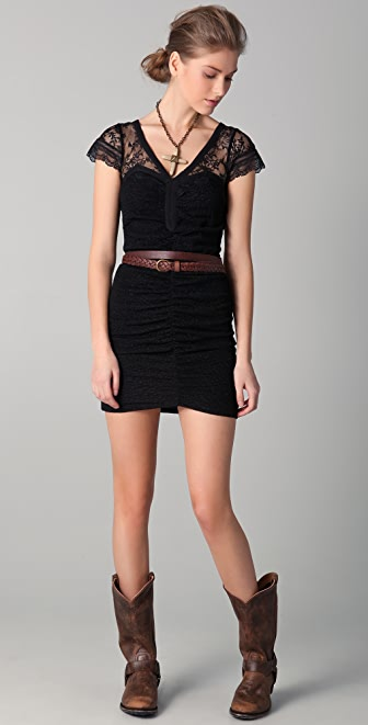 Free People Lace Envy Bodycon Dress