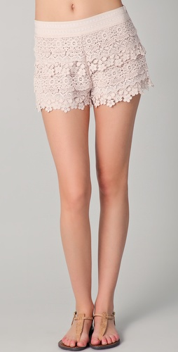 Free People Lovely Crochet Shorts