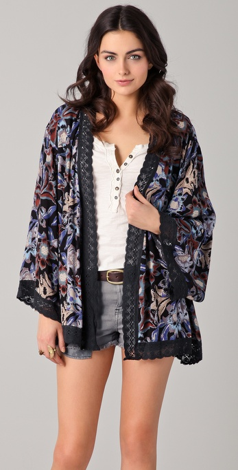 Free People Snap Out of It Boca Kimono Robe