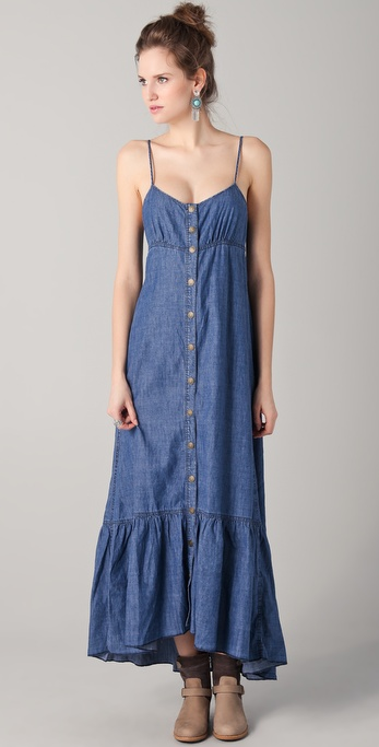 Free People Open Back Maxi Dress