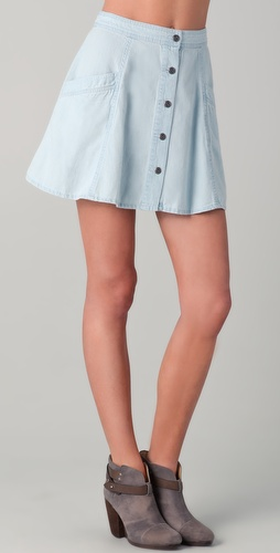 Free People Highwaisted Circle Skirt