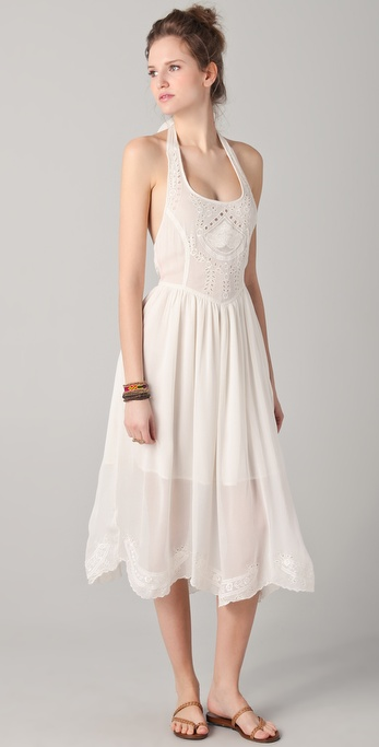 Free People Embellished Midi Sundress