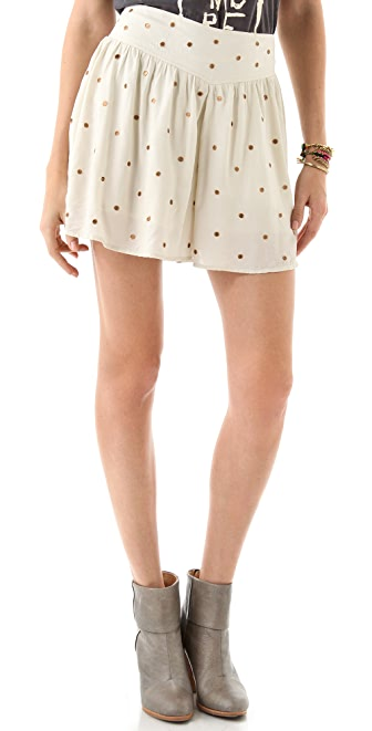 Free People Paillette Sateen Culottes