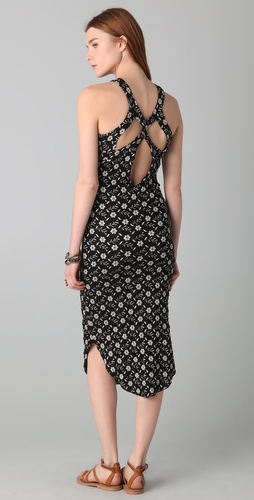 Free People Floral Pucker Midi Dress