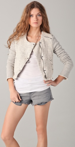 Free People Tattered Boucle Jacket