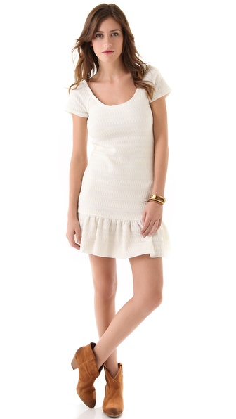 Free People Cozy Day Flounce Dress