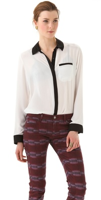 Free People Boyfriend Button Down Top