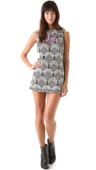 Free People Mod Squad Ethnic Mini Dress
