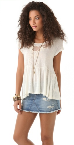 Free People Candy Crafty Knit Top